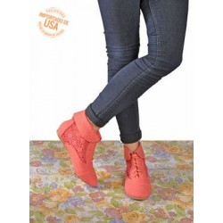 Botines de color coral
