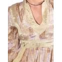 Vestido manga larga beige