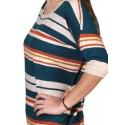 Polera de mujer de lana cuello redondo .