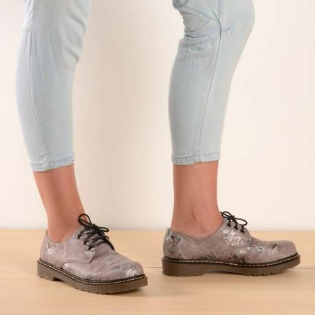 Zapato floreado