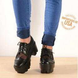Zapato tanque negro