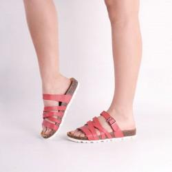 Sandalia rosadas suela blanca