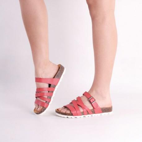 Sandalias rosadas suela blanca
