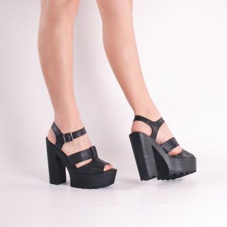 Sandalia de fiesta negra