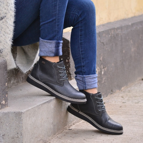 botines negros clasicos de mujer