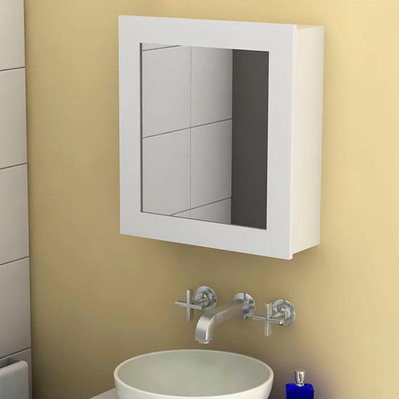 botiquin blanco con espejo - Tienda online