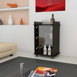 Mueble bar cafe oscuro