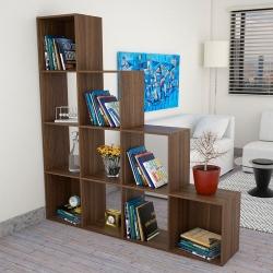 Mueble biblioteca tipo escalera cafe