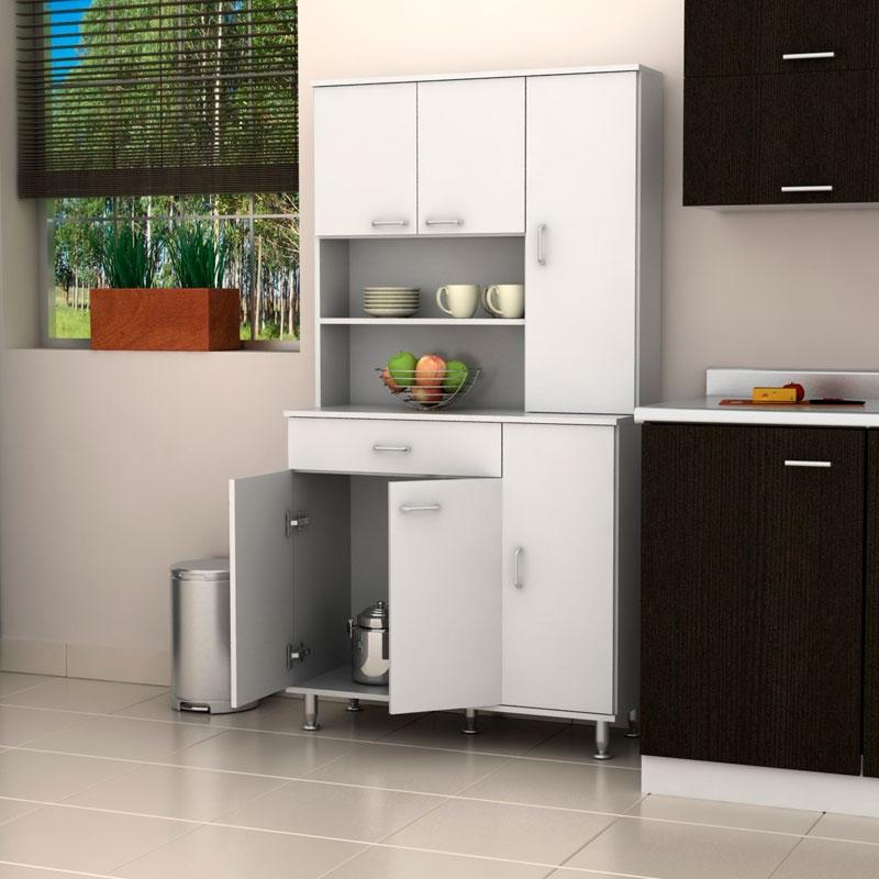 Mueble cocina blanco dise os arquitect nicos for Muebles de cocina blancos