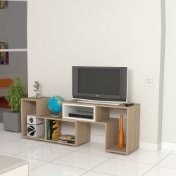 Rack TV de melamina beige
