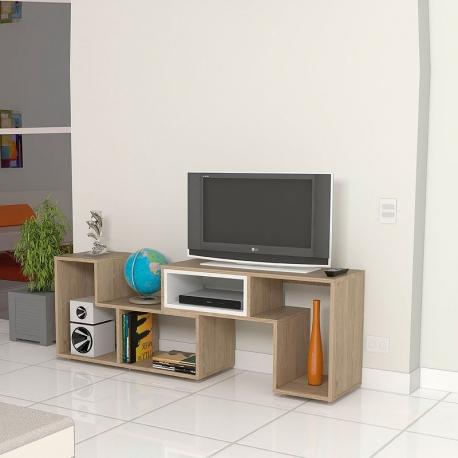 Rack TV de melamina beige