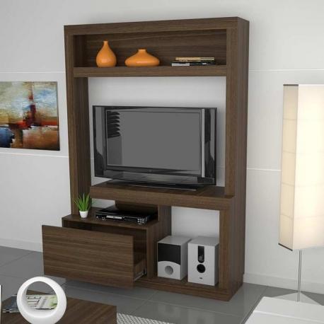 Estantes de madera para tv y música