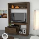 Estante de madera para tv y música
