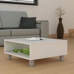 Mesa de centro de madera blanca