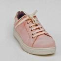 Zapatilla de cuero rosado