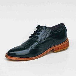 Mocasin oxford negro richato