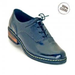Mocasin oxford color plata