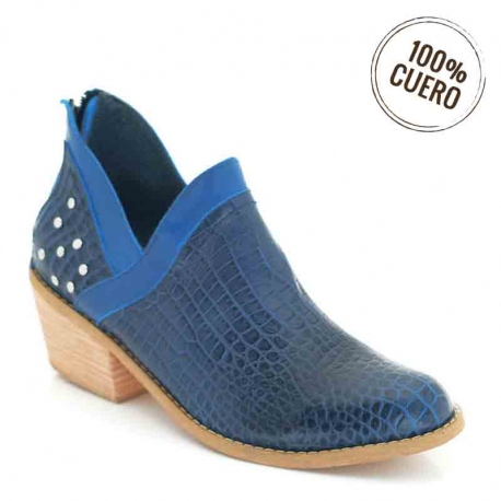 Mocasin cut out azul