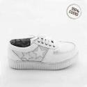 Zapatillas blanca de cuero natural