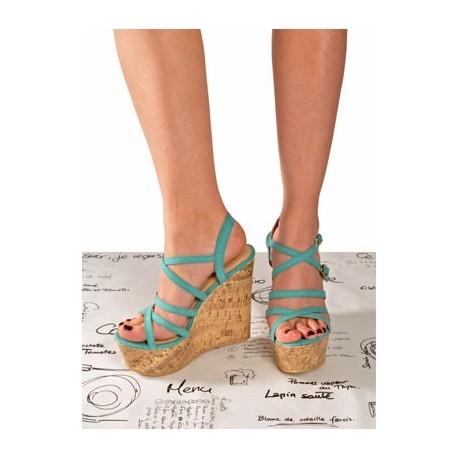 Sandalias con plataforma color calipso